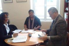 Rencontre avec le Secrétaire Général de Wallis et Futuna, Monsieur Pierre SIMUNEK
